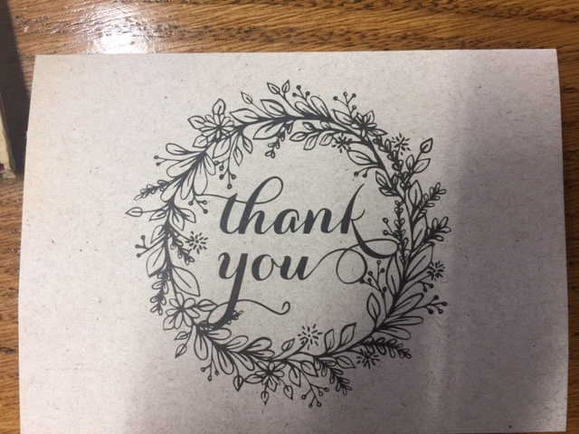 Thank You For Your Cards